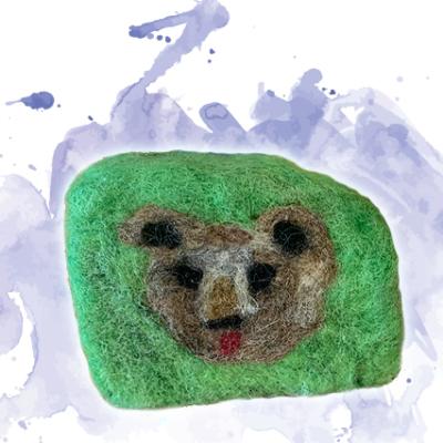 Kreativ-Filzseife mit Bärenmotiv