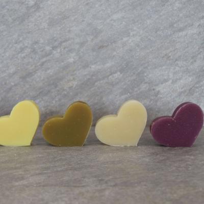 Valentinstags-Herzseifen