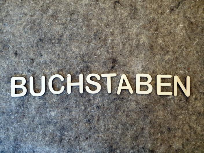 Aus der Lasermanufaktur: Buchstaben